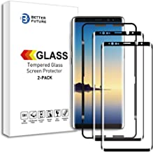 Better Future Glass for Samsung Galaxy Note 8 Screen Tempered Glass Easy Install 3D Curved HD Clear Protective Shield Frame Glue[2-Pack]