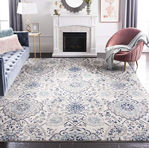 Safavieh Madison Collection MAD600C Boho Chic Glam Paisley Non-Shedding Stain Resistant Living Room Bedroom Area Rug, 9