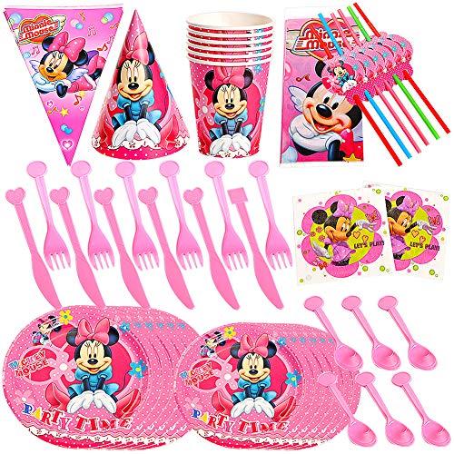 JPYH Set de Fiesta de cumpleaños de Mickey 60PCS Disney Mickey Mouse...