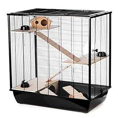 Little Friends Grosvenor Rat and Hamster Cage with Wooden Shelf and Ladder