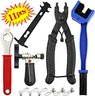 Veggicy Bike Tools Chain, Bike Tools Set for Chain Bike Link Plier, Chain Breaker Splitter Tool, Bike Chain Wear Indicator Tool and Chain Checker for Bike Chain Repair Tools for All Models Bike Chains