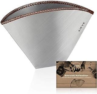 AIEVE Filtre à café réutilisable en acier inoxydable Filtre à café Filtre permanent pour filtre à main, porte-filtre pour ...