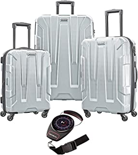 Samsonite 102691-1776 Centric 3pc Nested Hardside 20 Inch, 24 Inch, 28 Inch Luggage Set - (Silver) with Manual Luggage Scale