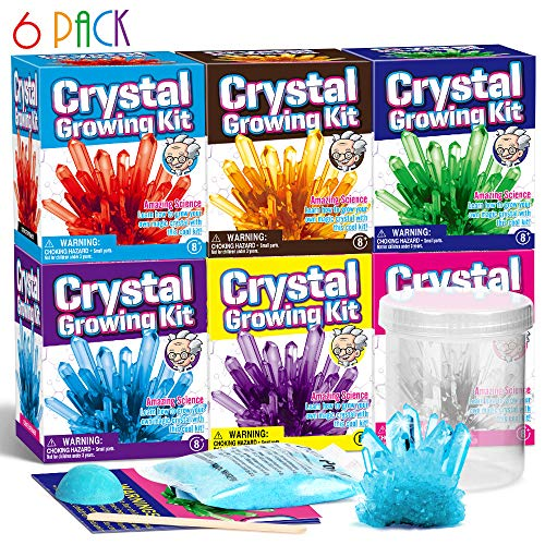 Dr. Daz Kristalle Züchten Experimentierset Kinder Chemie Spielzeug Set Kristalle experimentierkasten Ab 6 10 8 12 Jahre