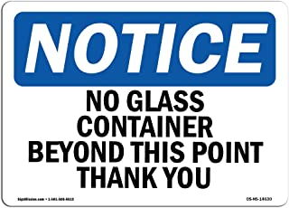 no glass beyond this point sign