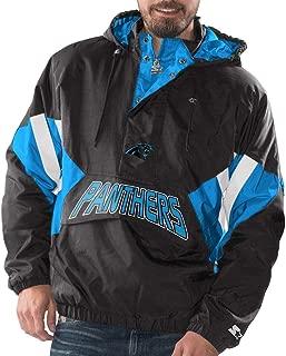 Carolina Panthers Starter Vintage Enforcer Hooded Half-Zip Pullover Jacket