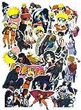 SetProducts  Top Pegatinas! Juego de 60 Pegatinas de Naruto Vinilos - No Vulgares - Manga, Kakashi, Sasuke, Itachi, Bomb - Personalización Portátil, Equipaje, Motocicleta, Bicicleta…