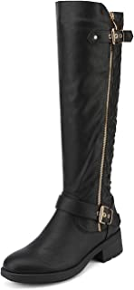 DREAM PAIRS Women's Knee High Riding Boots