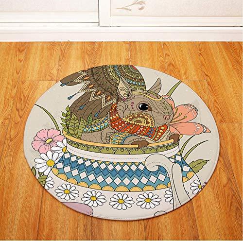 Yang Jingkai Ronde cartoon tapijt kinderen gymnastiekmat woonkamer tapijt voor salontafel matten baby tapijten