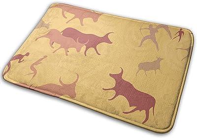 Non-Slip Doormats Buffalo Entrance Rug Indoor/Outdoor Carpet Absorbs Moisture Washable Dirt Trapper Mats