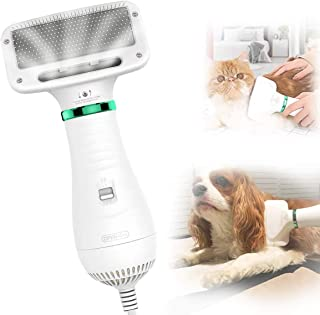 AU Plug 2 in 1 Pet Grooming Hair Dryer Blower with Slicker Brush, Portable Home Pet Care & Hair Styling Grooming for Large...