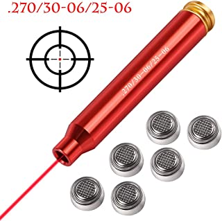 Gogoku Bore Sight for 7.62x39mm 5.56mm .223 .270 .30-06 .25-06 Cartridge Hunting Red Laser Boresighter with Batteries