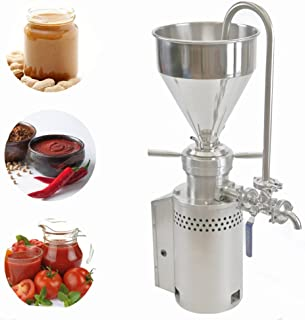 BAOSHISHAN JM-L50 304 Stainless Steel Peanut Butter Machine 1.5KW Ketchup Machine Colloid Mill Sesame Butter Maker Grinding Machine 10-20kg/h Diameter of The Blade: 50mm (110V)