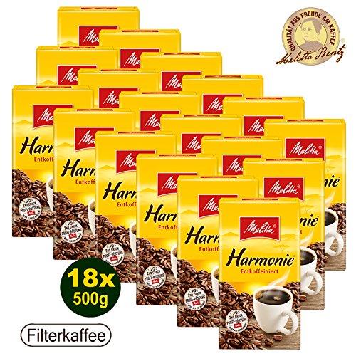 Melitta HARMONIE entkoffeiniert Filterkaffee 18x 500g (9000g) - Melitta Café gemahlen