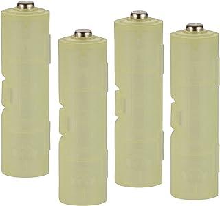 スマイルキッズ 日本製 電池アダプター 単4が単3になる電池アダプター ライトグリーン 2個組み 2セット ADC-430LG-2P