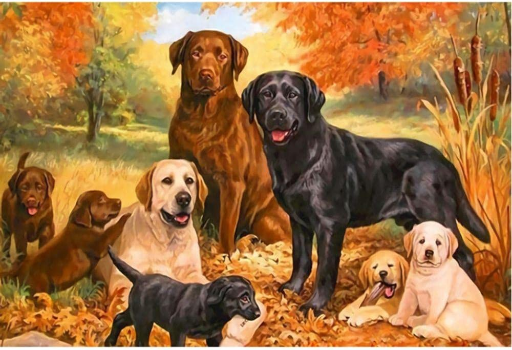 Jigsaw Puzzle 5000 Houston Mall Piece Wooden Dogfam Omaha Mall Animal Maple Color