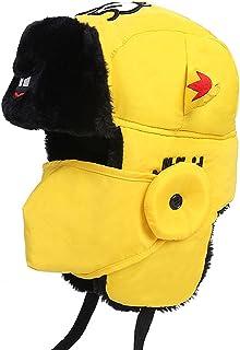 fbbdc0406220bf CHUANGLI Cute Womens Mens Weatherproof Nylon Faux Fur Lined Winter Earflap  Trooper Aviator Hat