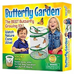 Pop up, reusable 11.5 inch tall mesh habitat perfect for butterfly viewing; includes feeding dropper and complete instructions Witness one of nature's most spectacular transformations up close Caterpillars ship separately via included voucher (Additi...
