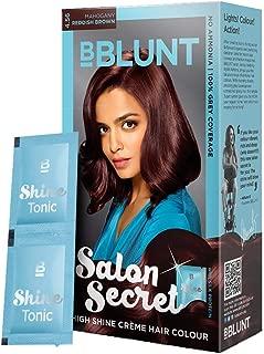 BBLUNT Salon Secret High Shine Crème Hair Colour, Reddish Brown 4.56,40g