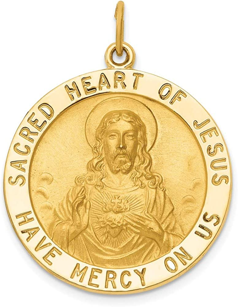 Charm Branded goods Pendant 14K Yellow Gold Themed 33 Heart Sacred 25 Of mm Je Time sale
