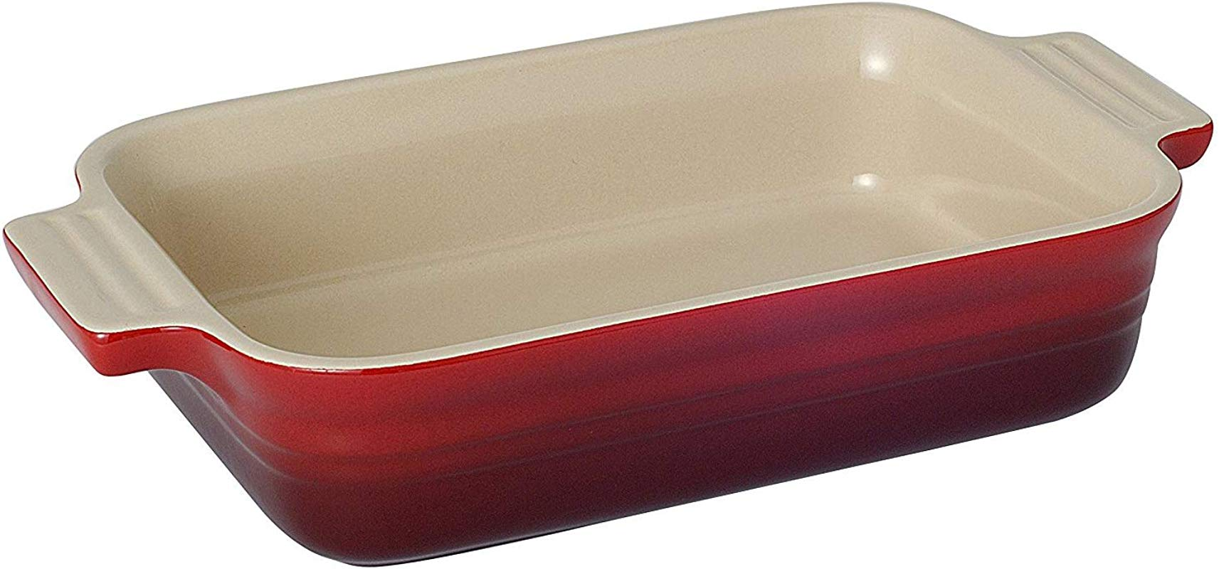 Le Creuset Stoneware 7 By 5 Inch Rectangular Dish Cherry