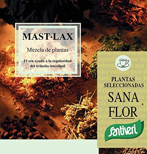 Mast Lax Sanaflor masticable de Santiveri (75 gr): Complemento alimenticio a base de plantas para masticar para ayudar a la regularidad del tránsito intestinal.ocasional.