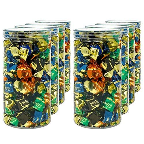 Luxury & Grace Pack 8 Barattoli di Polietilene Alimentare, 1,5 L (20x10cm). Contenitori con Coperchi Trasparente in Polietilene. Riciclabili. 100% Senza BPA.