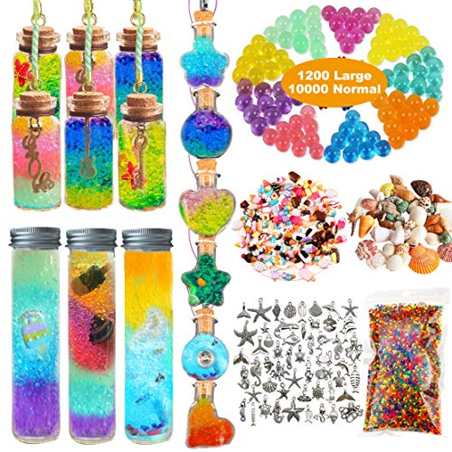 Leeche Create Rainbow Glass Bottles Art 21PCS,Play /& Create Your Own Bottles Art,Arts and Crafts for Girls,Water Beads Party Favors for Kids
