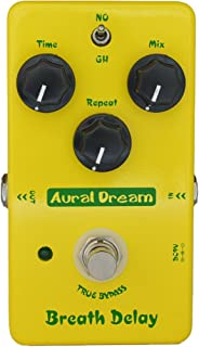 Aural Dream Breath Delay Guitar Pedal Provides Classical Atmosphere Delay and Post-rock 600ms delay time for 2 modes Analog Delay,True Bypass
