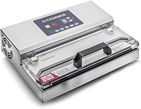 Avid Armor Vacuum Sealer Machine - A100 Stainless Construction, Clear Lid, Commercial Double Piston Pump Heavy Duty 12