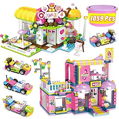 Amazon - Save 30%: Hair Salon Building Blocks Café Coffee House Building Bricks Toy House for Girls…