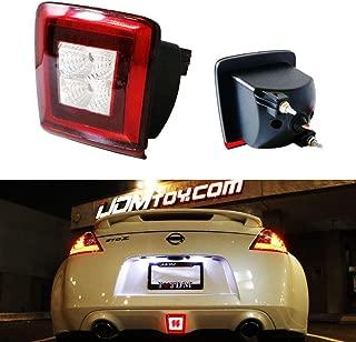 iJDMTOY OEM Red Lens LED Rear Fog Light Kit For 2013-17 Juke & 2017-up Sentra Nismo Version ONLY, Powered by Red LED as Brake/Rear Fog & White LED as Backup Reverse Lamp