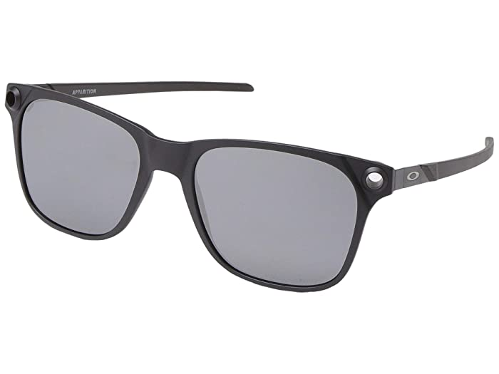 Oakley  55 mm Apparition (Satin Black with Black Iridium Polarized) Fashion Sunglasses