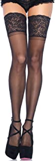 Women's Plus Size Stay-Up Lace Band Top Thigh Highs