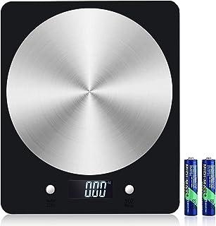 Báscula Digital de Cocina, Diyife11lb / 5kg Báscula electrónica de cocción de Alimentos con Pantalla LCD Báscula de pesaje...