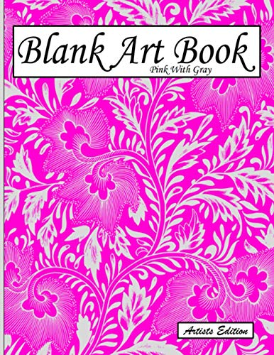 Blank Art Book: Sketchbook For Drawing, Artists Edition, Colors Pink With Gray, Vegetable Motif (Soft Cover, White Fat Paper, 100 Pages, Large Size ... Books For Adults With Drawing Paper A4)