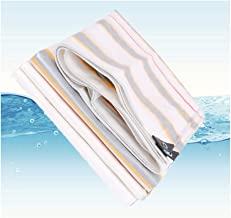 GDMING PE Tarpaulin Stripe Waterproof Heavy Duty Tarp Sheet Cover with Eyelets and Rope Garden Plant Sun//hot/Cold Tension Resistance Camping Farm, 20 Sizes (Color : Beige, Size : 5.8x9.8m)