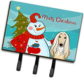Caroline's Treasures BB1864TH68 Snowman with Afghan Hound Leash or Key Holder, Large, Multicolor