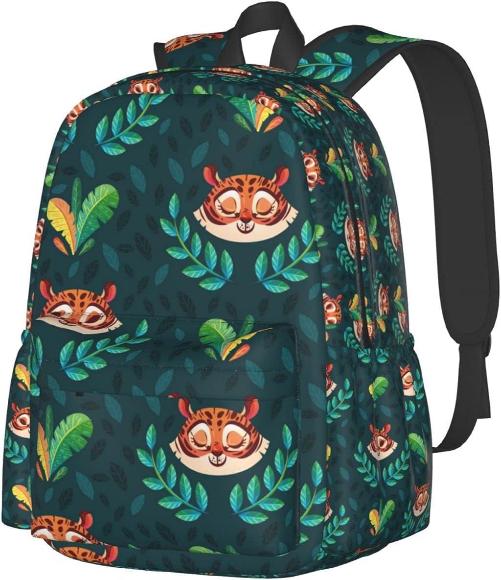 Boys OFFicial Cute Inexpensive Tiger Pattern School Bookbag Elegant Adjustab Shoulder