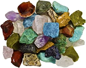 Fantasia Materials: 3 Pounds (Best Value) Bulk Rough Madagascar Stone Mix - Raw Natural Crystals & Rocks for Cabbing, Cutt...