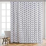 Furlinic XL Duschvorhang Badvorhang Badewannenvorhang in Badezimmer aus Stoff Textil Anti-Schimmel Wasserabreisend Waschbar, Überlänge 200x240cm Chevron mit 12 Haken.