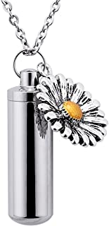 Cylinder Cremation Ashes Urn Necklace Memorial Pendant Keepsake Keychain Stainless Steel Ashes Jewelry