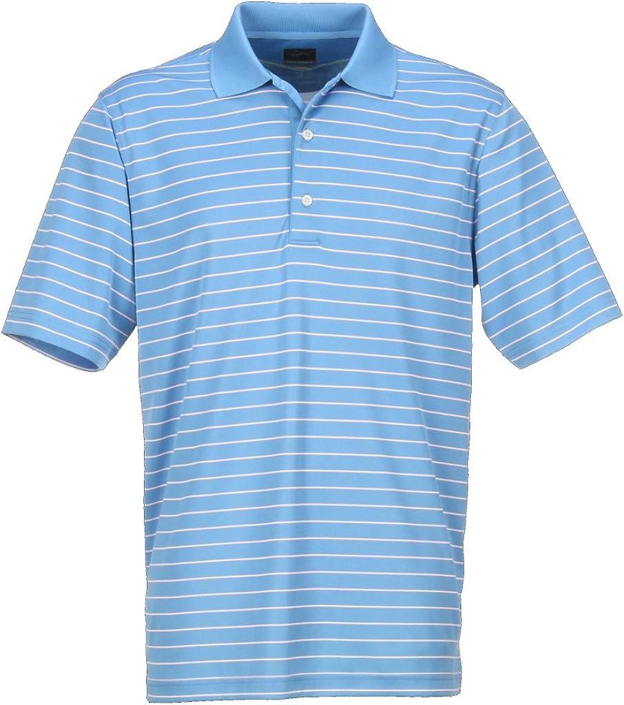 Greg Norman Collection Men's Protek Micro Shirt trust Polo Lux List price Stripe