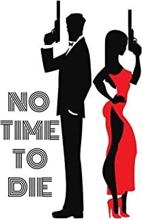 No Time To Die: Notebook Movie 007 Glamours Style Classic Vintage Gift