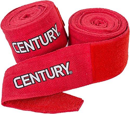 "Century Cotton Hand Wraps (Red, 120"")"