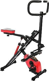 Total Crunch 2 en 1, Ab Booster et Vélo d'Appartement, Appareil de Fitness avec Ecran LCD, Entraînement Cardio pour Abdomi...