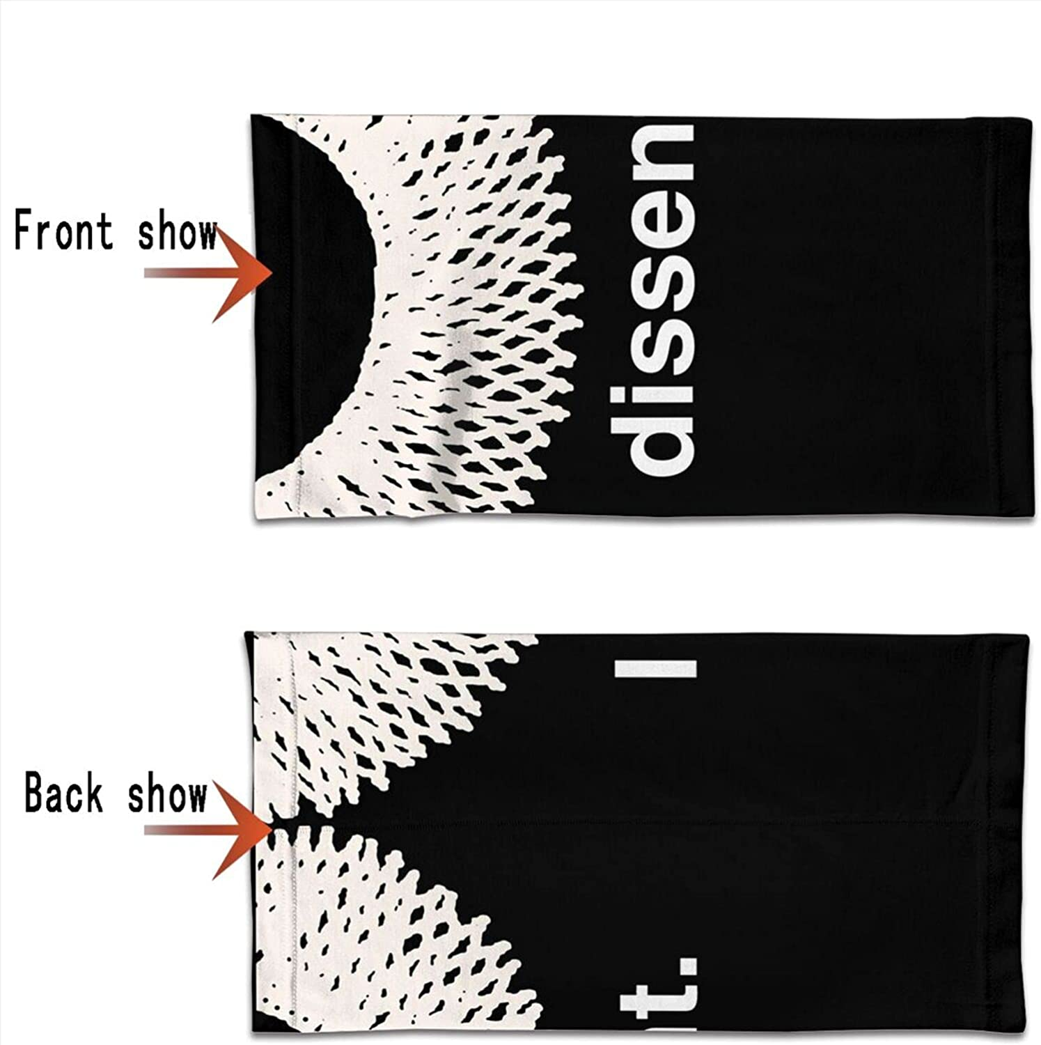 I Dissent Round Neck Gaiter Bandnas Face Cover Uv Protection Prevent bask in Ice Scarf Headbands Perfect for Motorcycle Cycling Running Festival Raves Outdoors