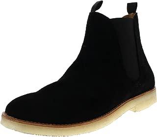 Mens H by Hudson Sandgate Smart Suede Work Black Ankle Chelsea Boots