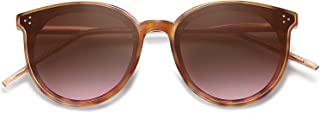 SOJOS Designer Round Sunglasses for Women Oversized Frame with Rivets DOLPHIN
