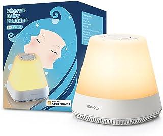 Pomoc w zasypianiu Baby Smart lampka nocna współpracuje z Apple HomeKit, Baby WLAN lampka nocna dla dzieci z białym szume...